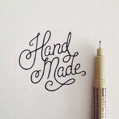 Hand Made by Ant Gardner #lettering #handdrawn
