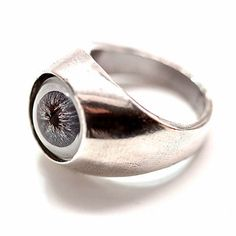 Evil Eye Ring White Bronze, $68, now featured on Fab.