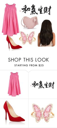 """""""Untitled #109"""" by grozovna ❤ liked on Polyvore featuring Monsoon, Christian Louboutin and Luna Skye"""