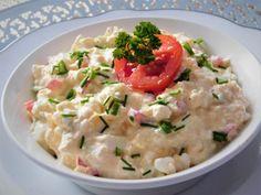 Cottage pomazánka s tvarůžky recept - TopRecepty. Potato Salad, Potatoes, Cottage, Cooking, Ethnic Recipes, Food, Red Peppers, Cuisine, Casa De Campo