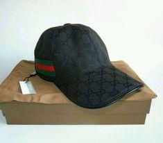 75f76ebd1b4 GUCCI Mens Cap Classic black Baseball hat AUTHENTIC SZ M  fashion  clothing   shoes