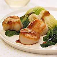 Sea scallops with orange sauce. Thinking about making these one night ...