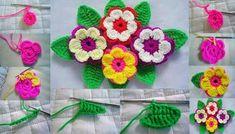 Örgü Çiçek Motifi Resimli Yapılışı