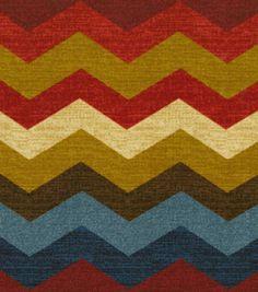 Home Decor Print Fabric-Waverly Panama Wave Gem, Joann Fabrics.  Liz Ottoman