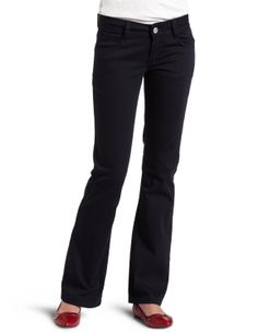 Southpole Juniors Basic Uniform Bootcut Pant           ($7.12) http://www.amazon.com/exec/obidos/ASIN/B004S02948/hpb2-20/ASIN/B004S02948 They were far too long for my leg length. - I will certainly buy again and will recommend to others. - They fit really well and are very comfortable.