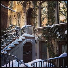 Snowy steps on the Upper East Side, NYC. photo gracieastrove