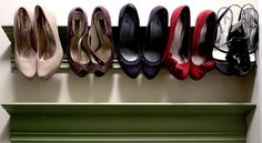 Large Wall Shoe Rack by BerriBrand on Etsy, $40.00