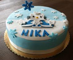 winter Hello Kitty cake