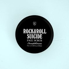 Triumph & Disaster — Rock  Roll Suicide – Volcanic Ash  Green Clay Face Scrub - Male Grooming, Mens Skincare