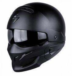 Scorpion Exo Combat/Covert Urban 2 in 1 Modular Motorcycle Helmet Matt Black