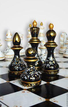 Купить Шахматы Престиж подарочные сувенирные большие - чёрно-белый, шахматы…