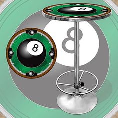 "Trademark 8-Ball 42"" Pub Table, Chrome"