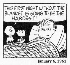 January 6, 1961 - Linus's withdrawal lasted 3 weeks, going through Hell the whole time. Here he is at bedtime…