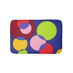 #Coloured bubbles bath mat - #Bathroom #Accessories #home #living