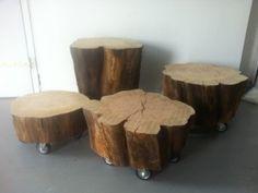 Boomstam bijzettafel of krukje Boomstam bijzettafel of kruk op wielen, gemaakt van oude kersenbomen. Ze zijn in 4 verschillende hoogtes leverbaar, dus perfect voor bij de loungeset, bank of aan tafel. De diameter wisselt van 35-50 cm. Ook de grilligheid is per stuk anders. Hoogte 25 cm is €95 Hoogte …