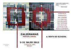 """""""Calligrams, Linear Poetry"""" Exhibition Poster / Cartel de la Exposición """"Caligramas, Poesía Lineal"""". Exhibition held at La Buga del Lobo, Madrid, Spain in 2011"""