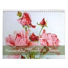 Catherine Klein Floral & Fruit Custom Calendar -nature diy customize sprecial design