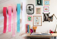 Cute DIY Room Decor Ideas for Teens - DIY Bedroom Projects for Teenagers - Washi Tape Frames for Photos