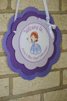 Hey, I found this really awesome Etsy listing at https://www.etsy.com/listing/157711835/new-sofia-the-first-door-sign