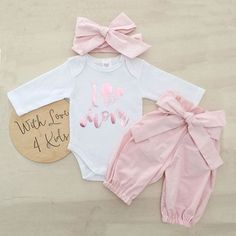 Baby Girls Romper+Long Pants+Headband Cute Outfits Clothing Set - New Sites Baby Outfits Newborn, Baby Girl Newborn, Baby Girls, Toddler Outfits, Baby Boy Outfits, Kids Outfits, Cute Outfits, Toddler Girls, Baby Baby