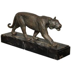 Art Deco Panther  | From a unique collection of antique and modern sculptures at http://www.1stdibs.com/furniture/more-furniture-collectibles/sculptures/