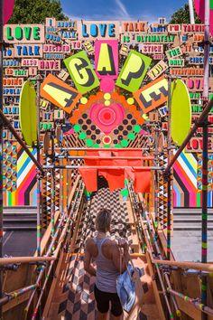 scaffolding, plywood, tape & paint // The Temple of Agape // Morag Myerscough & Luke Morgan