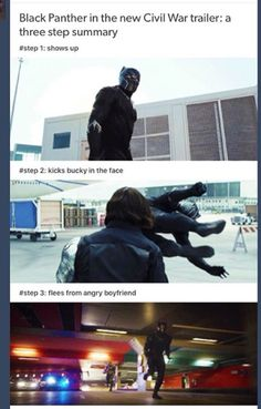 Hahahaha I can't. I'd say don't mess with Steve, but I think Steve shouldn't mess with T'Challa. The man's a beast. Literally.