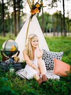 Boho Chic Photo Shoot - DIY Teepee - Teepee Photo Shoot - NC Wedding Planner - Orangerie Events - Perry Vaile Photography