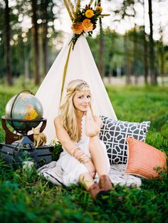 Boho Chic Photo Shoot - DIY Teepee - Teepee Photo Shoot - NC Wedding Planner - Orangerie Events - Perry Vaile Photography