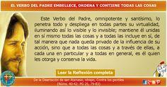 MISIONEROS DE LA PALABRA DIVINA: REFLEXIÓN - EL VERBO DEL PADRE EMBELLECE, ORDENA Y...