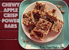 Chewy Apple Crisp Power Bars