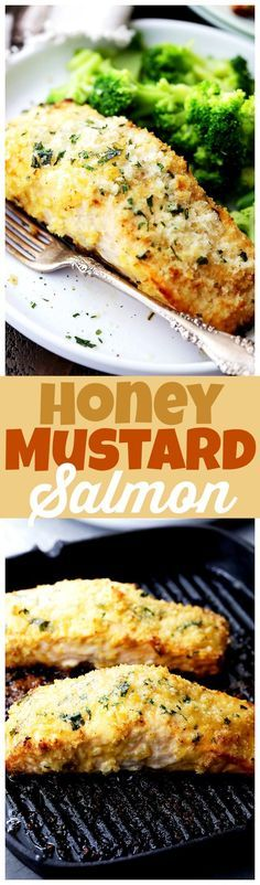 Honey Mustard Salmon - Flavorful and juicy salmon fillets brushed with tasty…