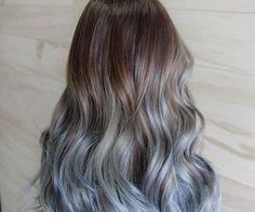 Dark Blonde & Blue Long Hair