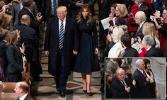President Donald Trump is attending a national prayer service this morning, an inauguration tradition, with his family and Vice President Mike Pence at the Washington National Cathedral.