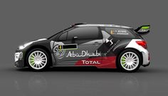 DS 3 WRCs of the Citroën Total Abu Dhabi World Rally Team