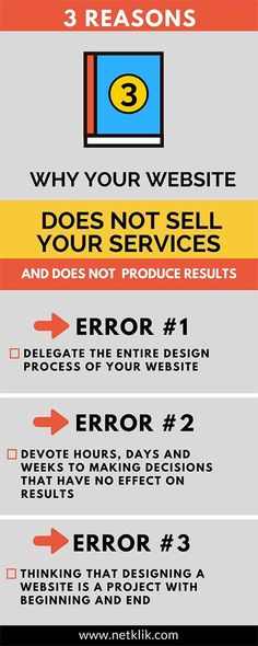 reasons why your website does not sell your services