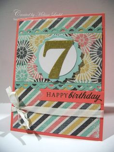I love the colors and the combination of diagonal stripes and floral elements!