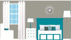 Dark Grey Accent Wall Master Bedroom From My Previous