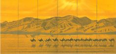 自分磨き日記:「平山郁夫 祈りの旅路」仏教伝来からシルクロードへ ...Hirayama Ikuo Journey To The West, Japanese Art, Buddhism, Monument Valley, Museum, Illustration, Poster, Painting, Camper Trailers