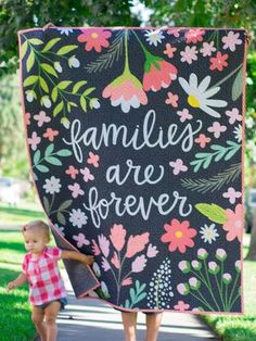 """Families Are Forever"" Quilt - Custom Quilts by Stitched"