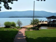 Smith Mountain Lake Rental-  From the house looking down to the dock