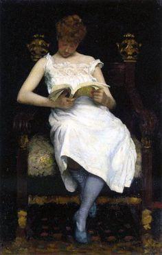 Edward Simmons - Girl Reading (1893)