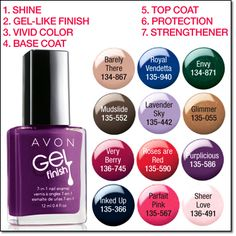 Love, love, love the Avon gel nail polish!  Order yours at https://www.youravon.com/cwithrich