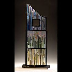 Fused Glass Sculpture by Ernest  Porcelli