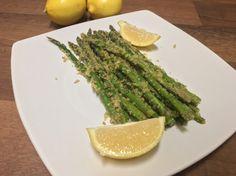Parmesan Crusted Asparagus | A Splash of Love