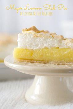 Meyer Lemon Meringue Slab Pie | Living Better Together
