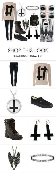 """""""Inverted Cross Scene Emo Outfit"""" by abipatterson on Polyvore featuring Pilot, Vans, MIA and Chicnova Fashion"""