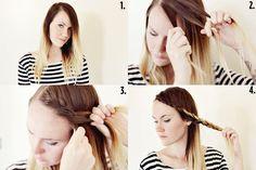 Longue frange tressée #Braid #Hair #Tresse