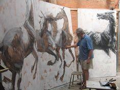 Jean-Louis Sauvat dans son atelier