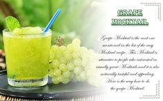 (C): vkool.com #wittyvows #recipe #mocktails #grapes #recipeoftheday #potd #trending #recipeideas #drinks #drinkrecipe #homemade Easy Mocktail Recipes, Alcohol Free, Recipe Of The Day, Get Healthy, Food Pictures, Food To Make, Tasty, Homemade, Fruit